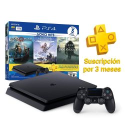 PS4 Slim 1 TB Hits God of War + Horizon + Shadow of the Colossus i450