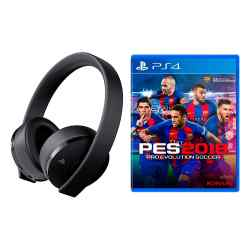 Combo Auriculares PlayStation Gold Headset PS4 + Juego PES 2018 i450