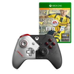 Combo XBOX CTL CYBERPUNK SPECIAL EDITION + FIFA 2017 DELUXE EDITION i450