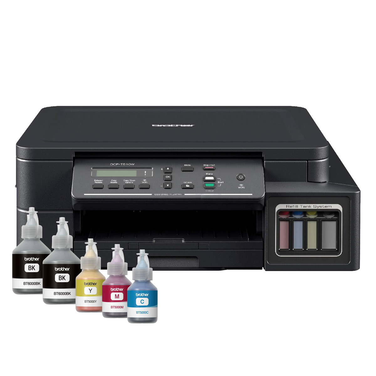 Impresora BROTHER Multifunción InkJet Eco Color Sist. Continuo WiFi T510W img 1