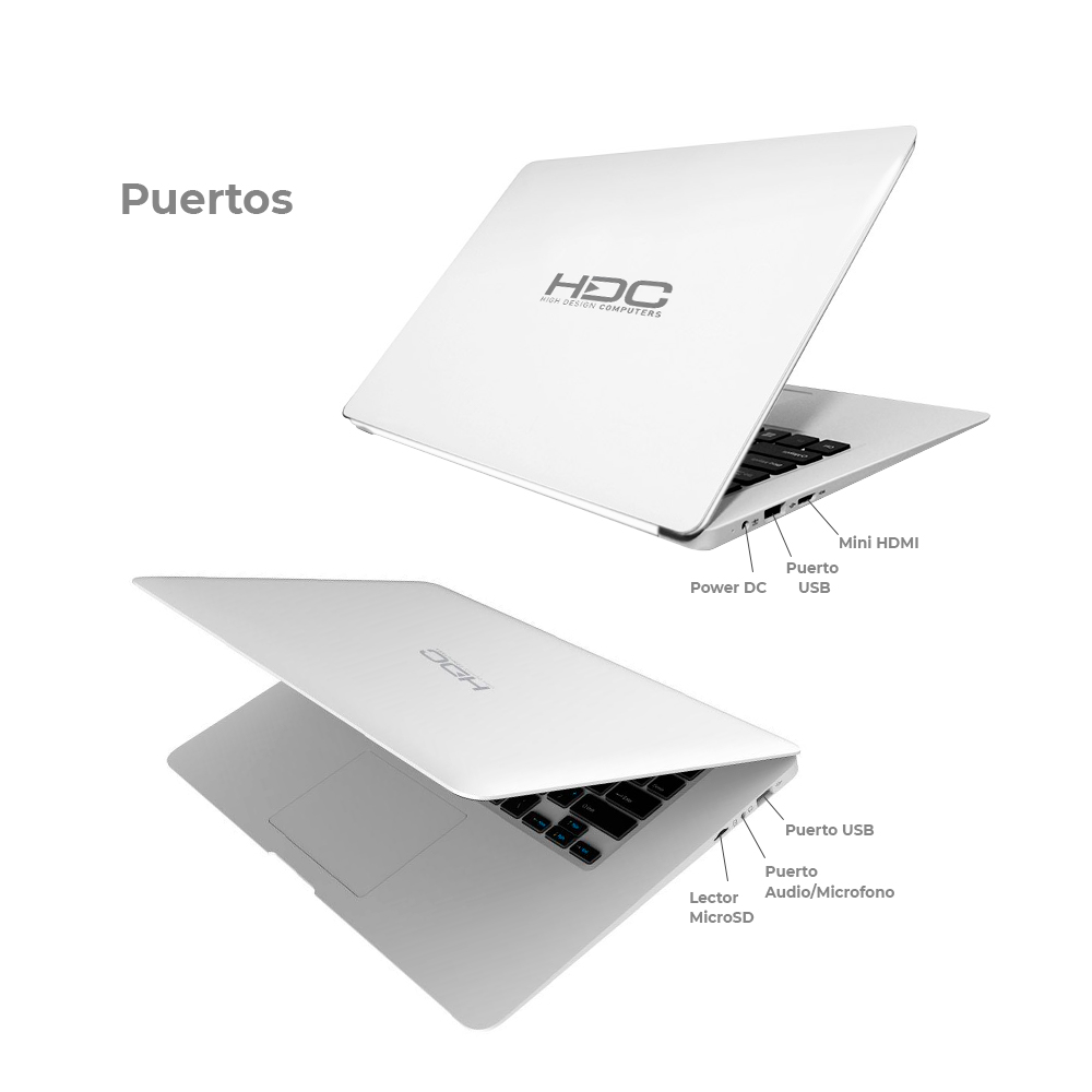 Notebook HDC CloudBook 14.1p Celeron 3 GB 32 GB Win 10 img 3